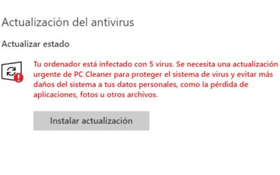 Falsa actualización de Windows infecta tu pc